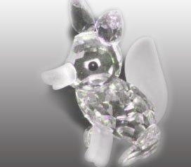 Swarovski - Figurine, Large Fox with Frosted ()