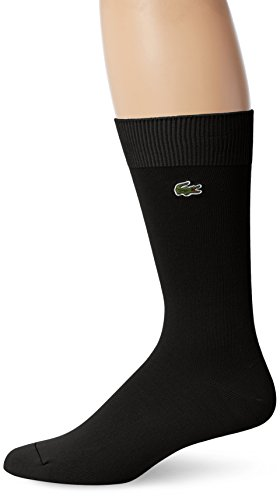 Lacoste Men's Classic Jersey Trouser Sock, Black, 10-13/Shoe Size 6-12