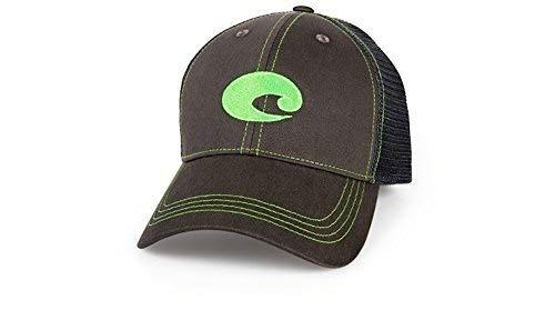 - Costa Del Mar Neon Trucker Graphite/Neon Green New 2017 Hat