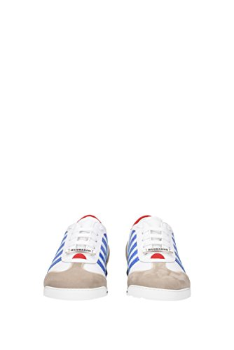 Dsquared2 men's shoes leather trainers sneakers new runner white Blue shopping online best sale sale online for cheap online Meu1xCzK