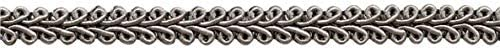 Sold by the Yard 91cm // 3 Ft // 36 049 Style# FGS Color: Silver Grey 13mm Basic Trim French Gimp Braid