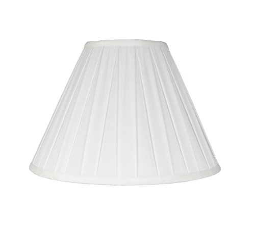 Box Pleat Pendant - Urbanest Softback Empire Box Pleat Lampshade, Faux Silk, 8x16x11