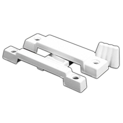 CRL F2533B White Window Sash Lock with 2-1/4