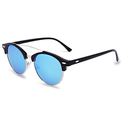 para Hielo sol Gafas AMZTM hombre Azul de pnwRn4tq