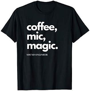 ⭐️⭐️⭐️ Audio Engineer Tshirt Sound Engineer Coffee Mic Magic Need Funny Short/Long Sleeve Shirt/Hoodie