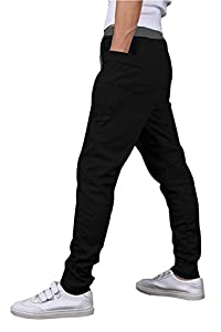OXYVAN Men's Jogging Pants Elastic Waist Running Sweatpants Harem Trousers