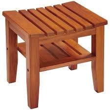 CONAIR PTB7 Solid-Teak Spa Bench with Shelf by Conair