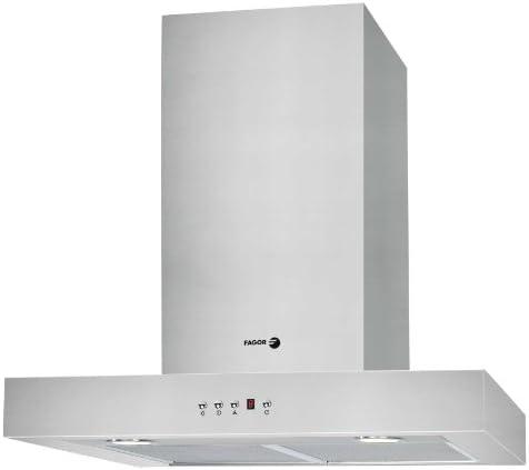 Fagor CFB-60AX - Campana (Recirculación, 800 m³/h, Montado en pared, Halógeno, Acero inoxidable, 2 piezas): Amazon.es: Hogar