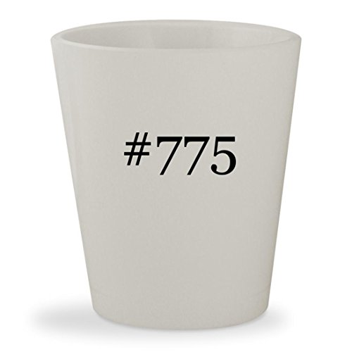 #775 - White Hashtag Ceramic 1.5oz Shot Glass (Ddr2 Pentium Motherboard)