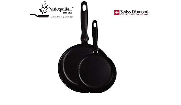 Swiss Diamond - Juego de sartenes de inducción (20 a 26 cm ...