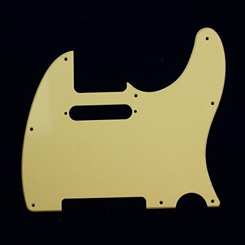 Telecaster Tele Standard Style Guitar pickguard ,Single-ply Cream ()