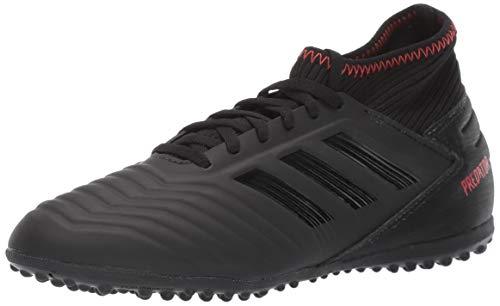 adidas Unisex Predator 19.3 Turf, Black/Active red, 6 M US Big Kid
