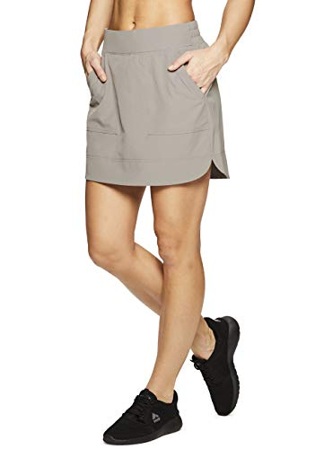 RBX Active Women's Golf/Tennis Athletic Skort with Bike Shorts and Pockets Spring Taupe XL