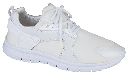 Air Tech Mens Synthetic Leather Running Shoes White 5Sgottf4