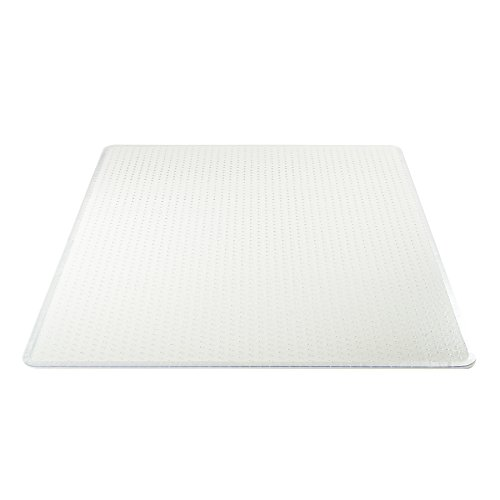 Deflecto Execumat Clear Chair Mat, High Pile Carpet Use, Rectangle, Beveled Edge, 45