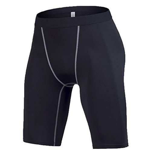 (JJLIKER Men Compression Shorts Leggings Performance Base Layer Tights Workouts Sports Training Cool Dry Rashguard Pants Black)