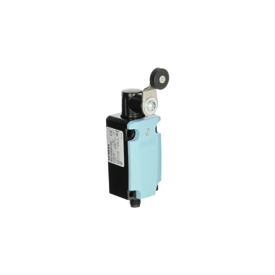 Siemens 3SE5 114 0CH01 1AC5 International Limit Switch Complete Unit, Twist Lever, 40mm Metal Enclosure, M12 Connector Socket, 5 Pole, Snap Action Contacts, 1 NO + 1 NC Contacts