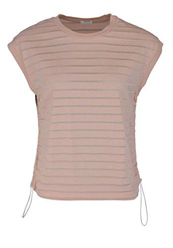 Drykorn Ärmelloses T-Shirt Rundhals Oversize Ringel Hellrosa Größe S