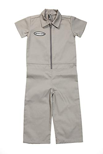 Born to Love Knuckleheads - Infant and Baby Boy Grease Monkey Coveralls (2T, Grey)]()