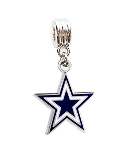 Heavens Jewelry Dallas Cowboys Football Star Team Charm Slide Pendant for Your Necklace European Charm Bracelet (Fits Most Name Brands) DIY Projects ETC