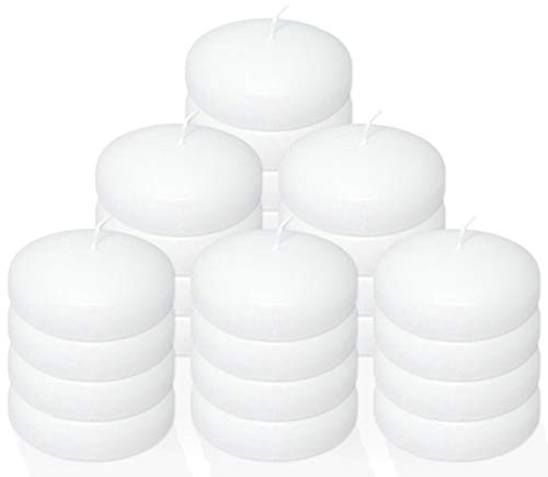 Stock Your Home 10 Hour Burning White Unscented Classic Floating Candles for Weddings, Parties, Special Occasions and Home Decorations (Set of ()