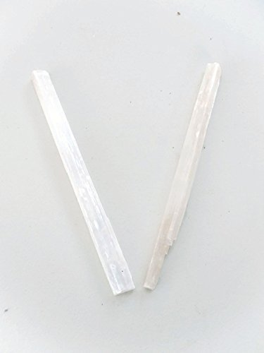 (Large Raw Selenite Sticks 10 to 12 Inches Set of)