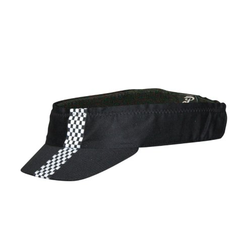 PACE Sportswear Edge Visor-Black W/Blk & White, Checkered...
