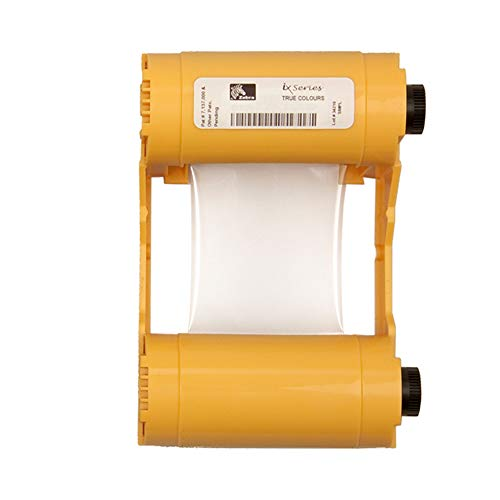 (Zebra 800033-807 True Colours iX Series Silver Monochrome Ribbon for Zebra ZXP Series 3 Printers. 1,000 prints.)