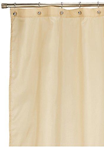 Lush Decor Mia Shower Curtain   Fabric Color Block Striped Neutral Bathroom Decor, 72