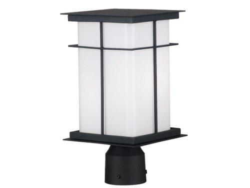 Kenroy Home 70003TB Mesa Medium Post Lantern with 6-Inch Shade For Sale