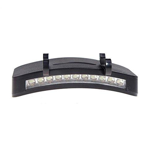 Lightahead LACAPLTEXX01 Super Bright 11 LED Hat Cap Light Camping/Fishing Clip Hat Visor Light Lamp Emergency (Hat Clip Light)