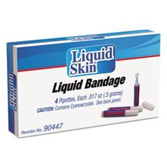 * Liquid Bandage, 0.017 oz Pipette, 4/Box