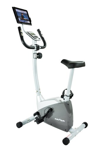 Innova Health and Fitness Upright Bike with iPad/Android Tablet Holder Innova Products, Inc.