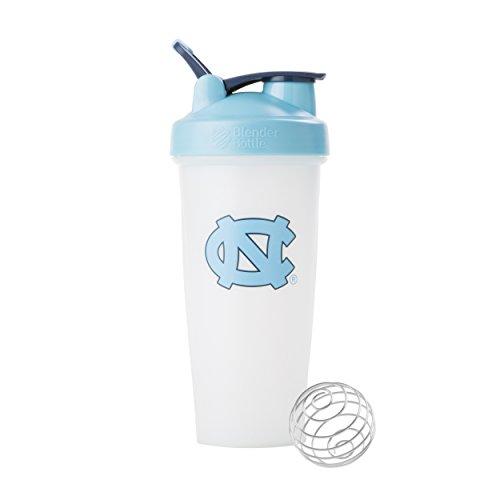 BlenderBottle Classic NCAA Collegiate Shaker Bottle, University of North Carolina - White/Light Blue, (North Carolina Seal)