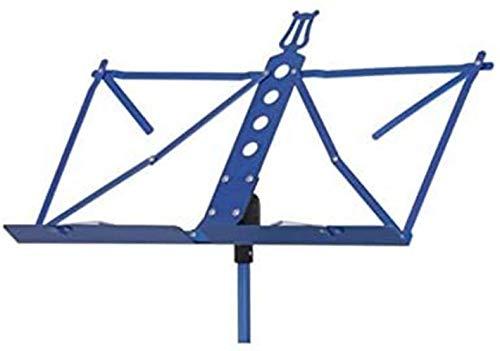 Portable Sheet Music Stand Foldable Lifting Violin Guitar Erhu Guzheng Music Stand (Color : Blue)