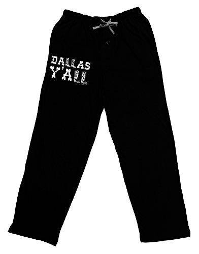 TooLoud Dallas Y'all - Boots - Texas Pride Adult Lounge Pants - Black- Large - Mens Dallas Cowboy Pajama Pants