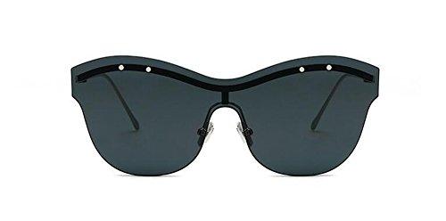 de soleil style polarisées lunettes inspirées Frêne métallique du en rond Lennon Noir vintage retro cercle ZdCFqwwW