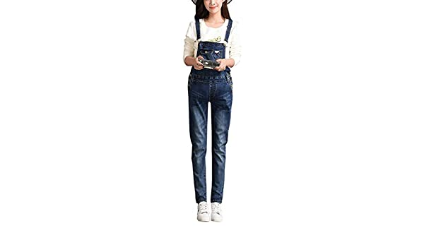 833892745db Amazon.com  Foucome Maternity Jumpsuit Plus Size Skinny Blue Strechy Romper  Denim Overalls  Clothing