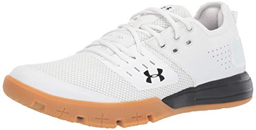Under Armour Men's Charged Ultimate 3.0 Sneaker, Onyx White (102)/Black, 7.5 M US