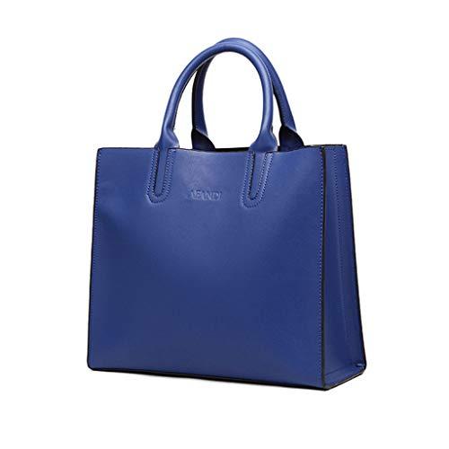 Blue Tracolla Handbag Mano Pelle In A Donna Borsa blue Casual Ppge Spalla Grande Capacità Tote Messenger wqZz1a1px