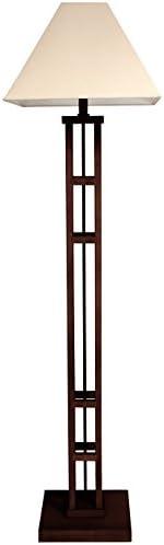 "Oriental Furniture 62"" Mosko Floor Lamp - Dark Walnut"