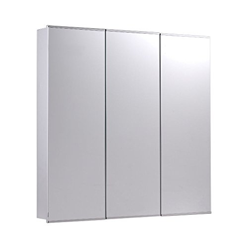 ketcham Cabinets Tri-View Series Surface Mounted Three Door Medicine Cabinet Polished Edge Mirror 60X36 by ketcham Cabinets