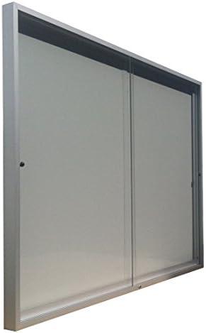 Vitrina de anuncios para 4 formatos A4 de puertas correderas fondo chapa alto 68 cm x Ancho 50 cm: Amazon.es: Oficina y papelería