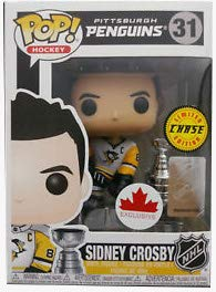 POP Funko NHL: Sidney Crosby Pittsburgh Penguins Grosnor Exclusive (Chase) + 1 Random NHL Trading Card