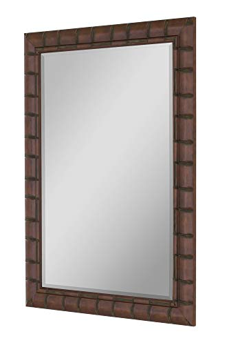 - Hitchcock Butterfield Fruitwood Bamboo Framed Wall Mirror, 30