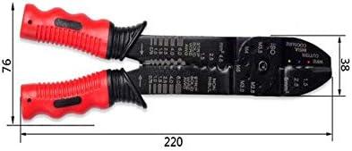 WY-WY 家の修理に適した、すなわち屋外産業メンテナンス多機能ピーリング圧着プライヤーセット(色:赤みがかった黒、サイズ:22 * 7.6 cm)以上 ラジオペンチ