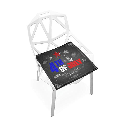 Pingshoes Seat Cushion Very Stylish Independence Day Wallpaper Chair Cushion Offices Butt Chair Pads Square Car Mat for Computer