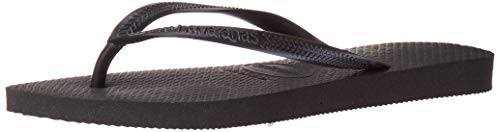 Havaianas Women's Slim Flip Flop Sandal,Black, 39/40 BR(9-10 M US Women's / 8 M US Men's)