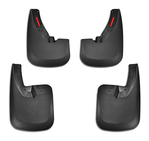 Tecoom Mud Flaps Splash Guards Front and Rear 4 Pack ABS Molded for 09-18 Ram 1500 with OEM Fender Flares