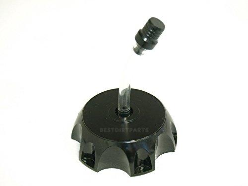 (MAXFASTMAX(TM) 49mm Billet CNC Gas Fuel Cap BLACK For 50cc CRF50 XR50 Dirt Pit Bikes RK12)